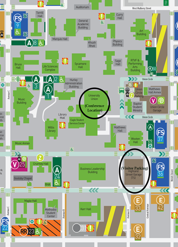 map of unt campus University Counselor Advisor Network Conference North Texas map of unt campus